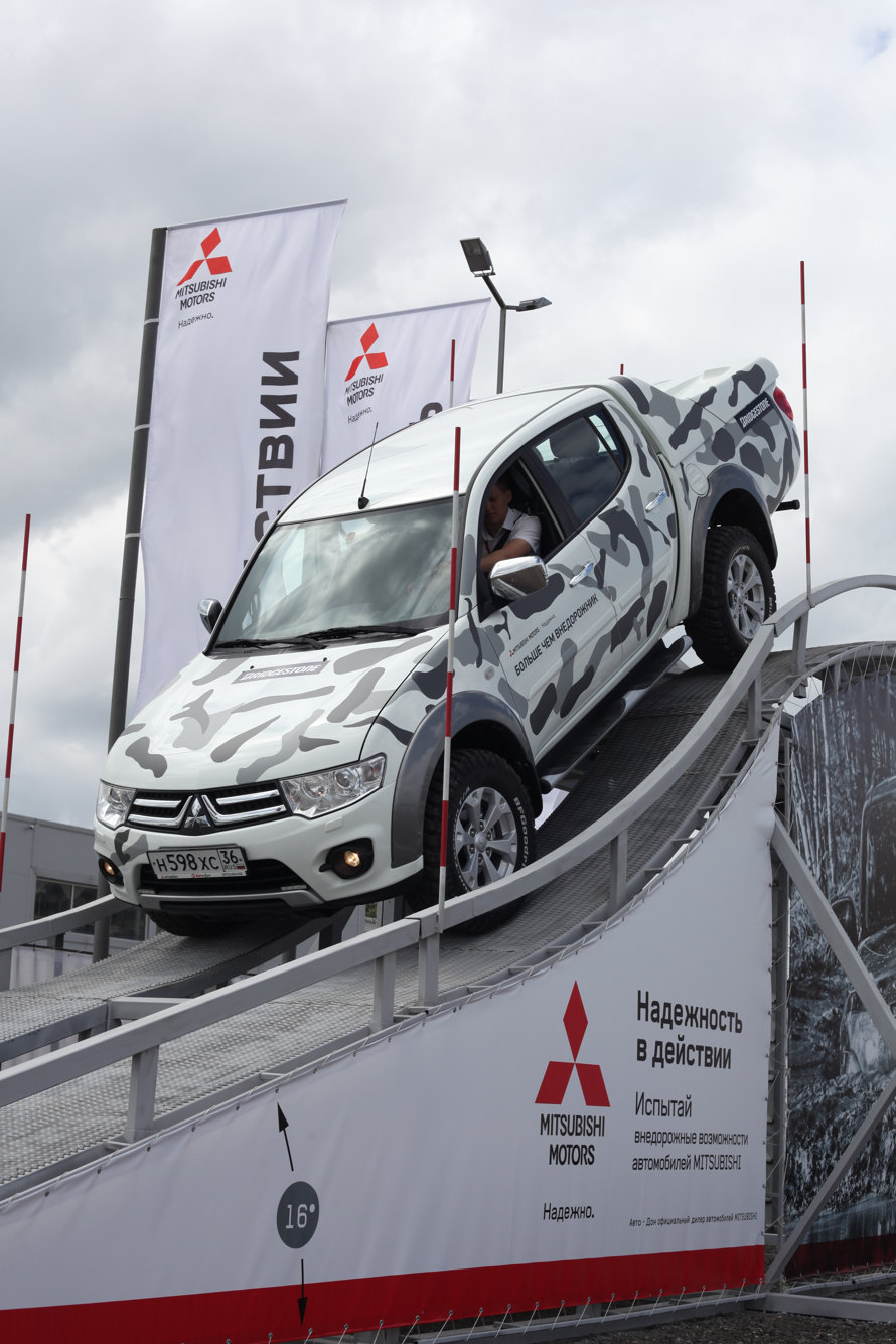 Первый внедорожный парк Mitsubishi открыт в Воронеже.