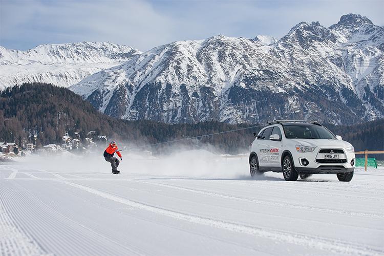 Самый быстрый сноубордист Великобритании и Mitsubishi ASX  побили мировой рекорд