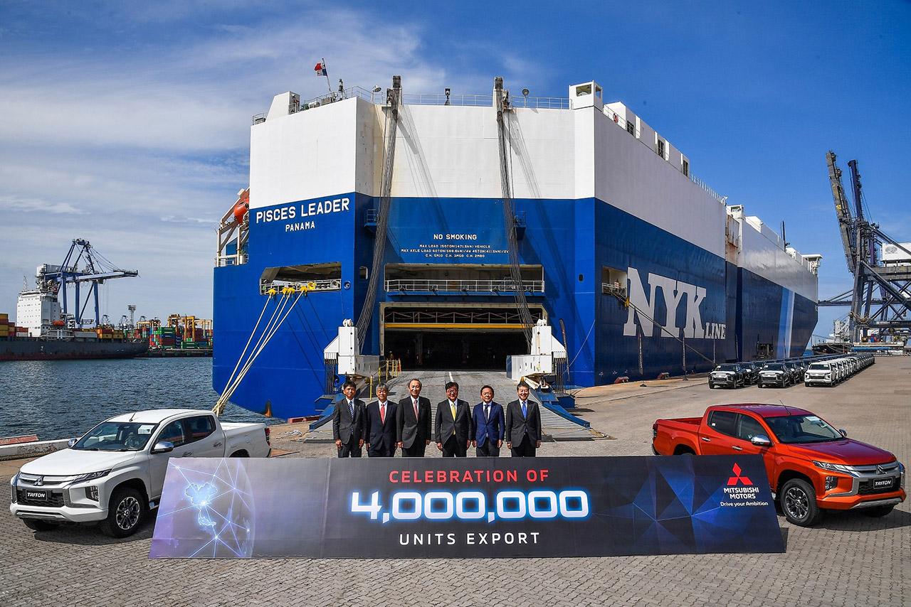 Mitsubishi Motors перешагнула рубеж в четыре миллиона автомобилей, экспортируемых из Таиланда