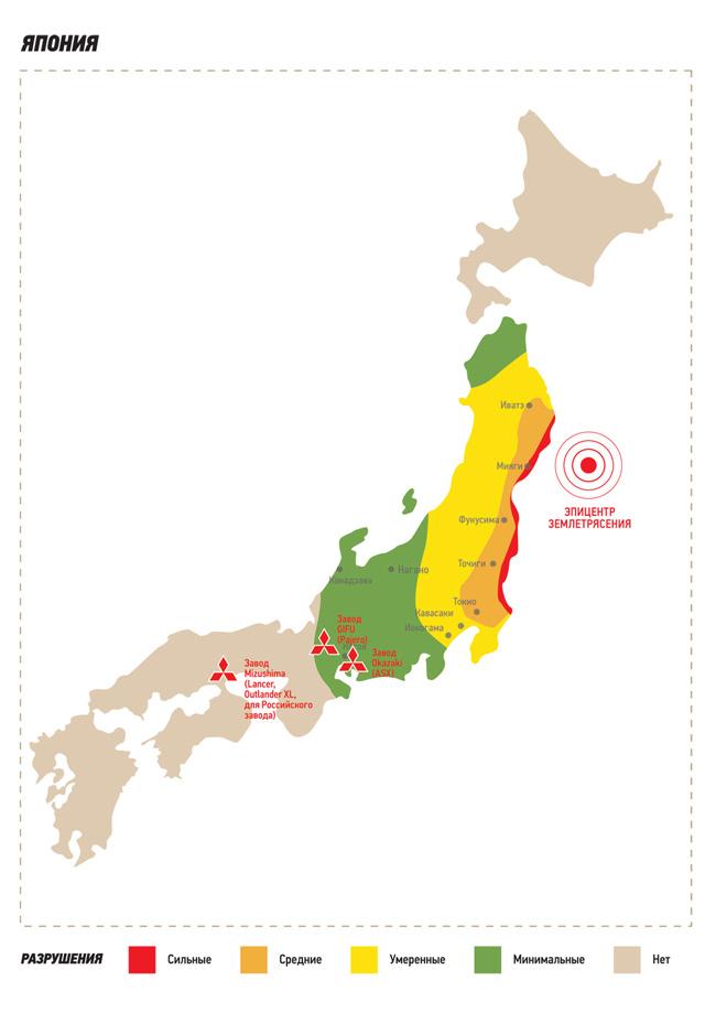 Заявление Mitsubishi Motors Corporation относительно последствий землетрясения и ситуации в Японии